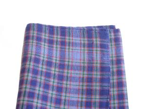 Purple Plaid Handkerchief, $7