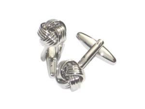 Silver Knot Cufflinks, $39