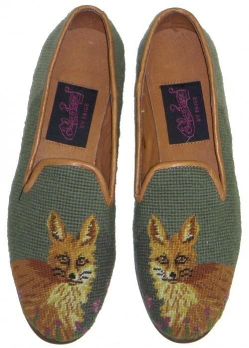 grandpa-chic-fox-needlepoint-slipper