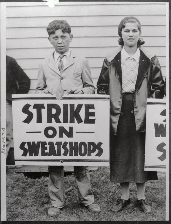 sweat-shop-strikers